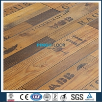 PINGO 12mm Waterproof HDF Wood Grain Laminate Wood Flooring