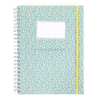 Wholesale office and school supplies imprint kraft paper cover spiral notebook with pen