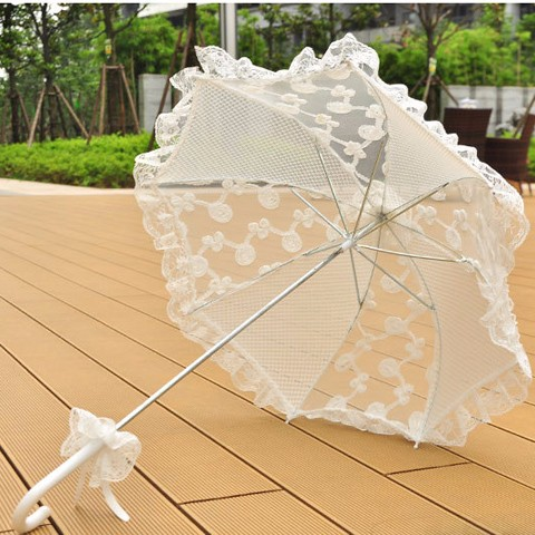 Handmade Wedding Lace Umbrella Bride Party Photo Prop Umbrella Favors Gifts