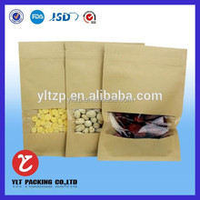Custom fruits seeds/nuts stand up Kraft paper coffee bag