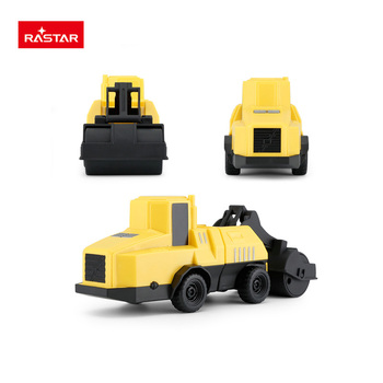 Rastar baby car plastic toy construction vehicle with road roller