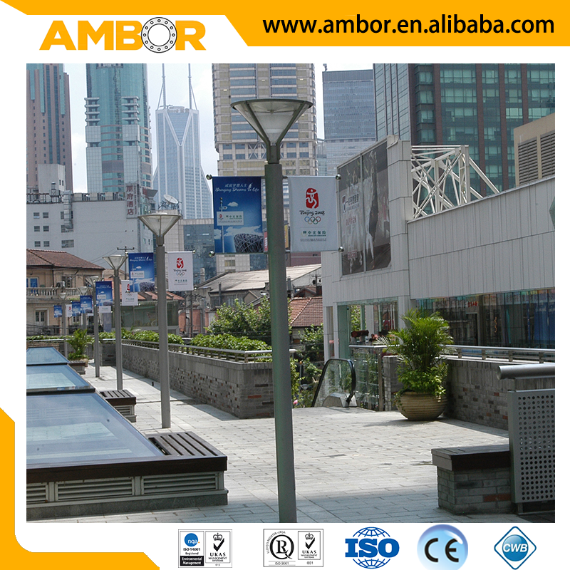 Low maintenance attractive aluminium lamp post street light pole