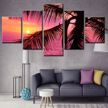 Modern Simple Coconut Trees of the Sea Printed Painting Canvas Art Printing Decoration Painting
