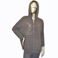 Worsted royal mongolian cashmere sweater with zipper