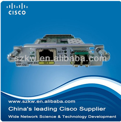 Cisco expansion module WAN interface card EHWIC-1GE-SFP-CU for Cisco routers