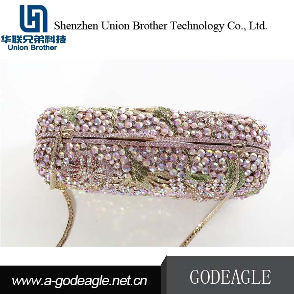 New style wholesale Crystal Clutch Purse