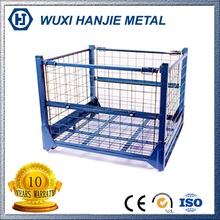 Folding Rolling Metal Storage Steel Pallet Cage