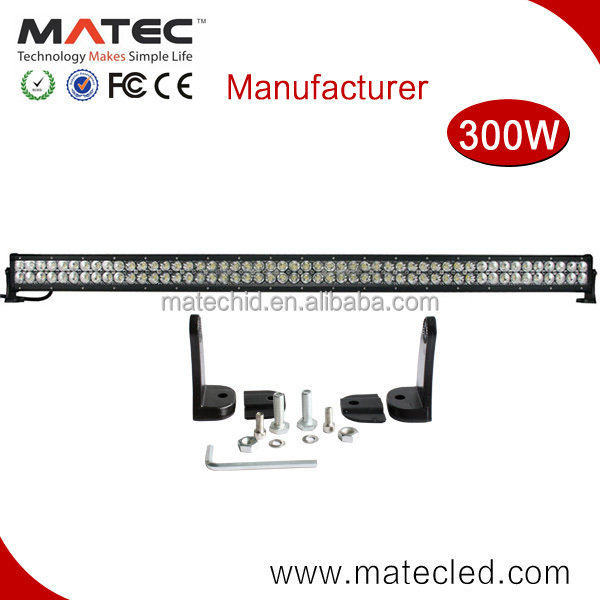 "Car accessories 52"" 300W Epistar C ree led light bar China wholesaler for Jeep, pick up"