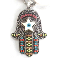 evil eye glass beads necklace with turkish eye