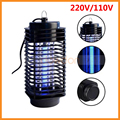 Black 220V/110V EU/US Plug LED Electric Mosquito Fly Bug Insect Killer Lamp Trap