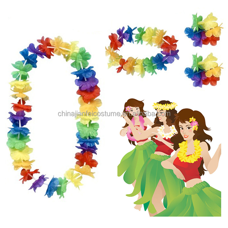 Hawaii flower lei, plasticl garland, party flower leis