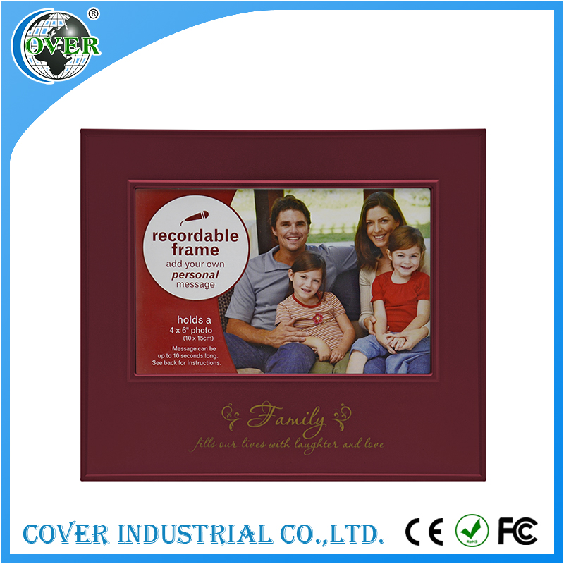 Plastic funeral decoration photo frames for wedding gift