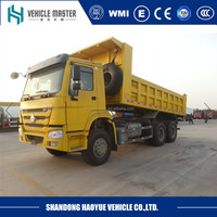 China factory directly sinotruk howo 6 x 4 used dump truck for sale