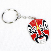 Souvenir Printing polly zinc alloy metal key chain