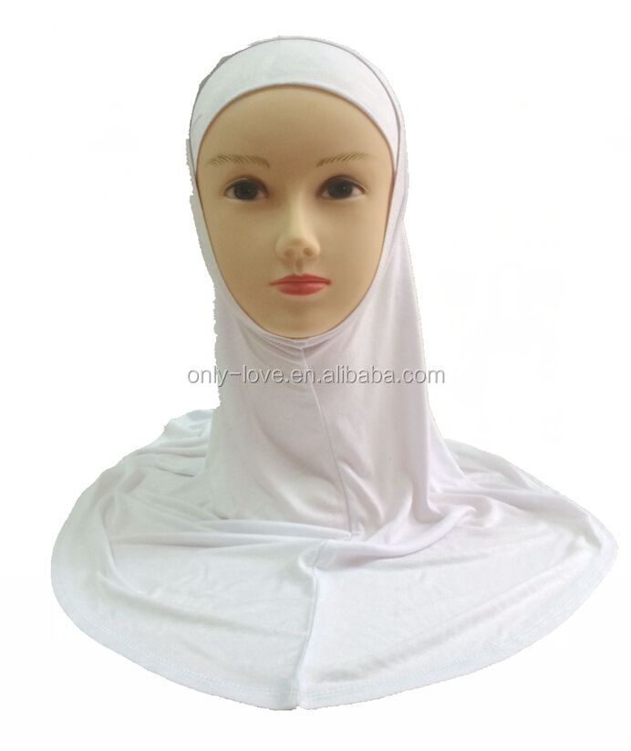 solid color jersey cotton plain two peices hijab muslim scarf HW034