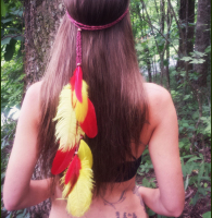 Beach Jewelry Gypsy Hair Jewelry Feather Headband 2 Colors