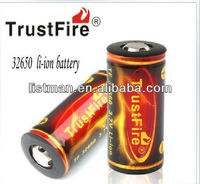 hot selling Trustfire 6000mah rechargeable 32650 li-ion battery with protection board
