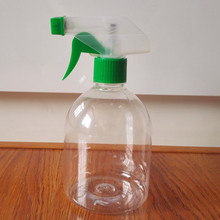 500ml PET Round Bottle with Trigger spray,Industrial use cleaning 500ml trigger pump PET plastic bottle