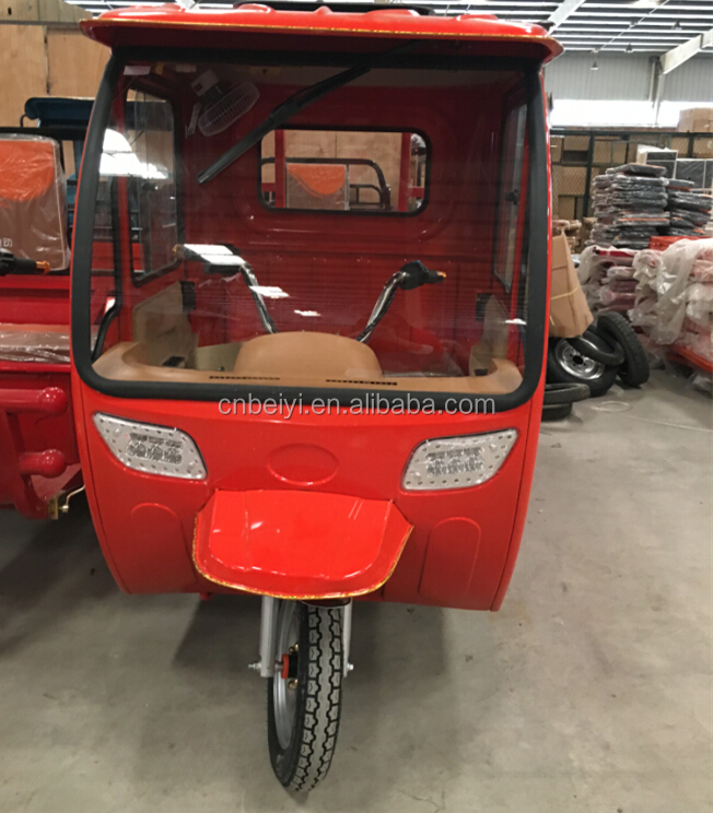 Chongqing Dayang heavy loading enclosed cabin 48V 50 A cargo electric rickshaw motorcycle for sale in Chile