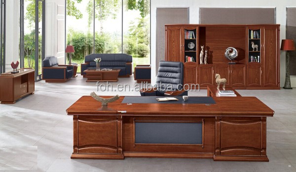 Italian-Style Boss Office Desk/ Top Modern Mahogany Office Furniture (FOH-B5A281)