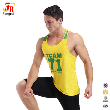 df188c0773611 Wholesale workout stringer tank tops fit muscle mens shirt singlets gold  gym vests