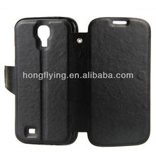 flip cover Leather Case for Samsung S4, Denim Material, Customized Colors Accepted