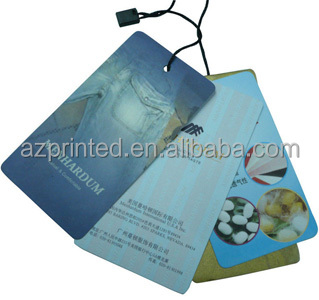 jeans brand hang tag 2014 with custom seal string