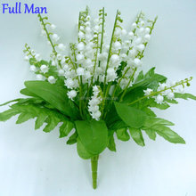 High Quality Artificial Decorative Silk Flowers H30cm White Plastic Lily of the Valley