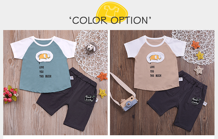 3 Years Boy Clothes Two-Piece Suit Sleeve T-Shirt Gift Boys Set Wear Children Clothing Clothes Pants Set