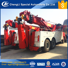 CLW heavy duty wrecker 40 tons 50 tons tow wrecker truck mounted with 30 tons 360 degree rotated crane