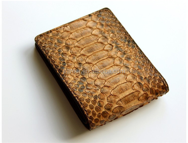 Slim design leather wallet real python skin purse for men wallet brand