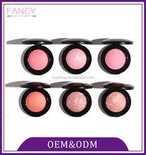 Factory directly provide portable blusher palette beauty cosmetic color makeup blusher