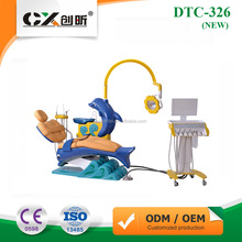 Cute Dolphin Cartoon Children Child Dental Unit Dental Chair CE Approved Electric Teeth Treatment Machine DTC-326