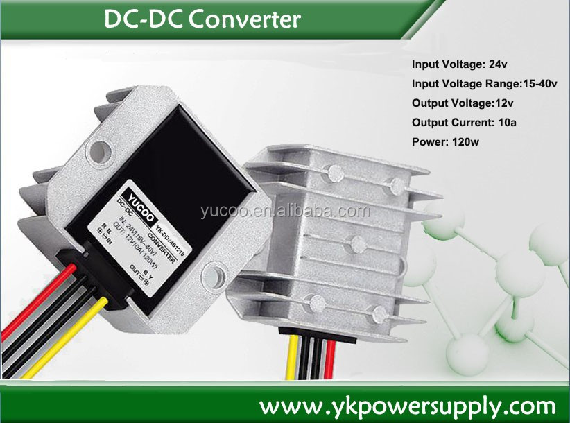 High reliability Low cost 120w 24v to 12v DC Converter