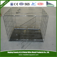Folding Metal 2 Door Pet Cat Cage Pet Dog Crate