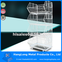 Metal folding Oblique mouth cage ,wire basket