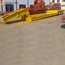 hydraulic ladder low bed /platform /boy semi trailer sale