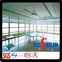 sunscreen fabric for roller blinds with 30%polyester,70%pvc and pvc coated polyester fabric