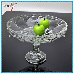 Popular Wholesale cheap clear glass salad plates
