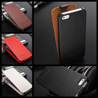 Hot item for USA high quality different texture to touch mobile phone leather case for Iphone 5 5S