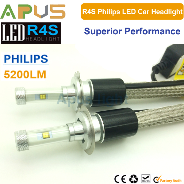 Car replacement halogen bulbs LED R4S H7