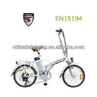 2013 new li-ion battery folding electric bicycle for Spain market with CE and EN15194