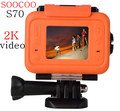 Waterproof sport action camera novatek 96660 wifi 2K video soocoo s70 remote camera