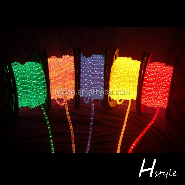 10', 25', 50', 100', 150', 300' ft Multicolored LED Rope Lights - Flexible 2 Wire Accent Holiday Party Decoration HNL052E