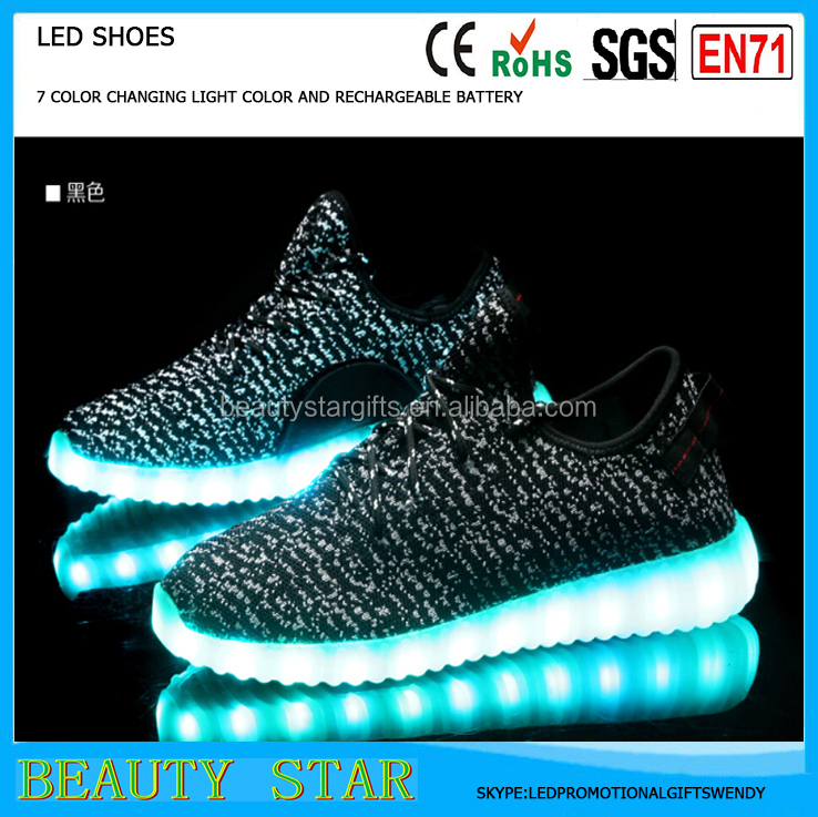 Hot selling unsix adults led light shoes,USB rechargeable adults led light shoes China factory wholesale