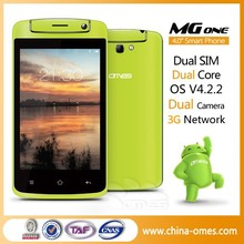 Dual Core OMES MG1 3G Dual Sim Cards Slots 4 inch china very low cost cellphones