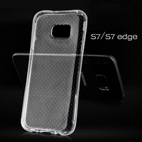 New Shockproof mobile phone case clear TPU transparent covers for samsung galaxy S7/S7edge