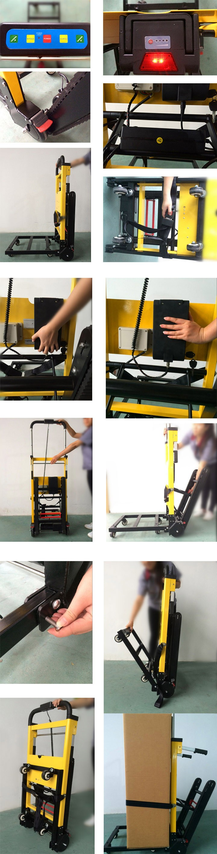 AEN-11A  electric stair climbing trolley foldable hand trolley