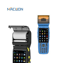Two Touch Screen Android Handheld POS Terminal System With Thermal Printer and Barcode Scanner