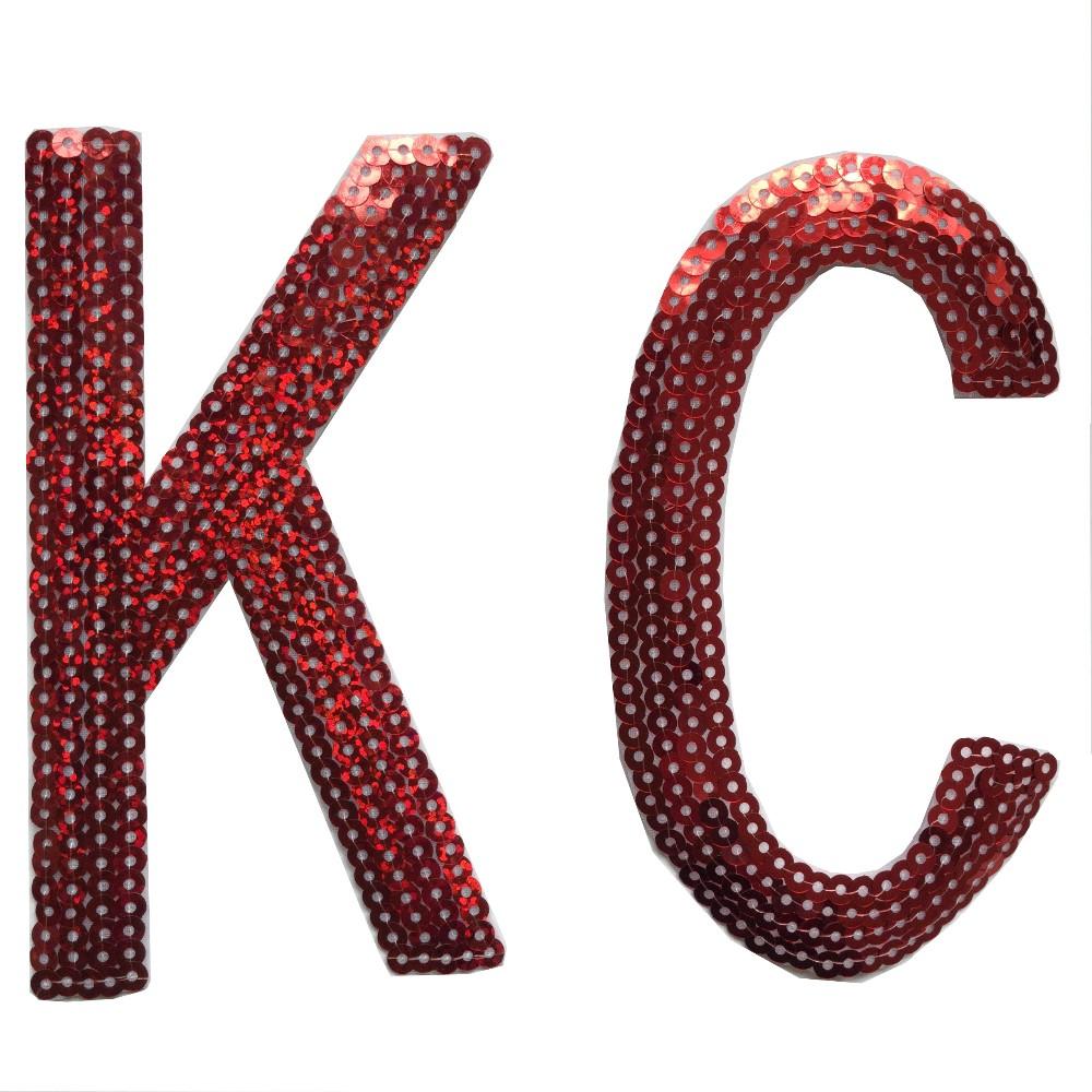 Factory direct sequin appliques letter sequin applique for Bulk letters